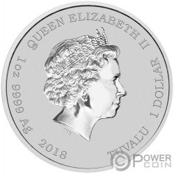 DIWALI FESTIVAL Festa Indiana 1 Oz Moneta Argento 1$ Tuvalu 2018