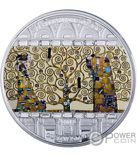 TREE OF LIFE Gustav Klimt Masterpieces of Art 3 Oz Silver Coin 20$ Cook Islands 2018