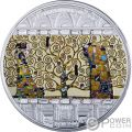 TREE OF LIFE Baum des Lebens Klimt Masterpieces of Art 3 Oz Silber Münze 20$ Cook Islands 2018