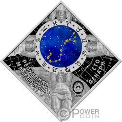 SCORPIO Zodiac Signs Серебро Монета 100 Денар Македония 2018