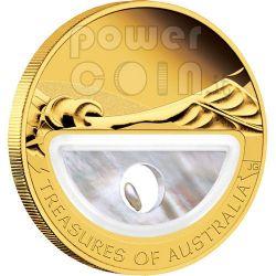 PEARLS Treasures Of Australia 1 Oz Oro Proof Moneda 100$ 2011