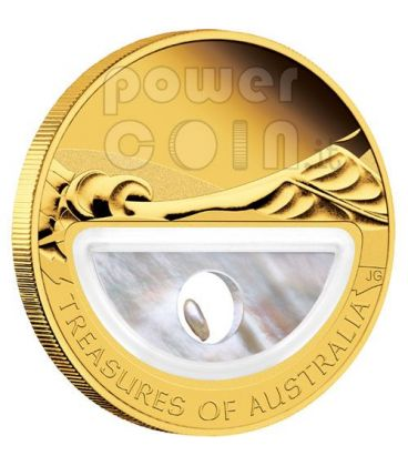 PERLE Treasures Of Australia Pearls Moneta 1 Oz Oro 100$ 2011