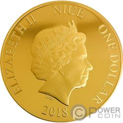 TOUCAN Tucan Five Metals Plated 1 Oz Moneda Plata 1$ Niue 2018