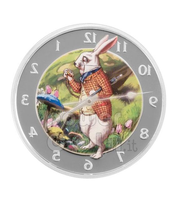 ALICE IN WONDERLAND Year Of Rabbit Silver Coin 2$ Pitcairn Islands 2011