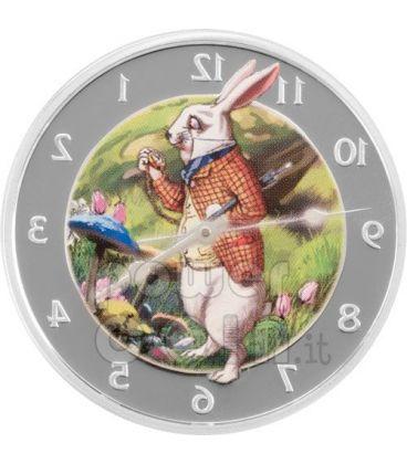 ALICE IN WONDERLAND Year Of Rabbit Silver Coin 2$ Pitcairn Islands 2011