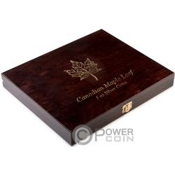 WOODEN CASE Cofanetto Legno Maple Leaf 1 Oz Display 20 Monete Argento Espositore