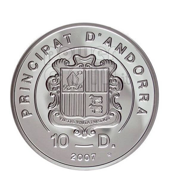 HELISKIING Extreme Sports Silver Coin 10D Andorra 2007