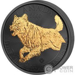 CANADIAN WOLF Lobo Golden Enigma 1 Oz Moneda Plata 5$ Canada 2018