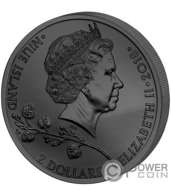 CZECH LION Golden Enigma 1 Oz Silver Coin 2$ Niue 2018