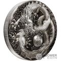 DRAGON 5 Oz Moneda Plata 5$ Tuvalu 2018