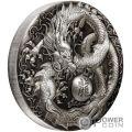 DRAGON Drachen 5 Oz Silber Münze 5$ Tuvalu 2018