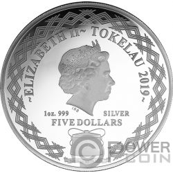 MIRROR PIG Chinese Lunar Year 1 Oz Silver Coin 5$ Tokelau 2019