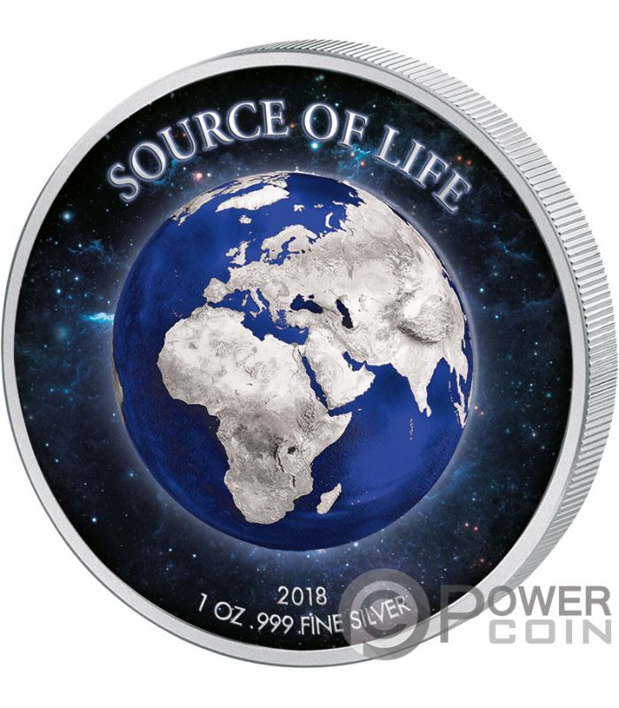 Earth Source Of Life 1 Oz Silver Coin 1000 Francs Benin