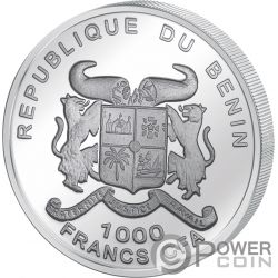 EARTH Source of Life 1 Oz Silver Coin 1000 Francs Benin 2018