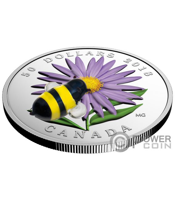 MURANOS BEST Insects Set 3x5 Oz Silver Coins 50$ Canada 2018
