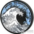 GREAT WAVE Große Welle Deep Frozen Edition 1 Oz Silber Münze 1$ Fiji 2017