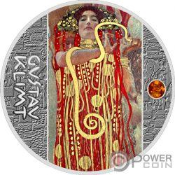 MEDICINE Medicina Gustav Klimt Golden Five Moneta Argento 1$ Niue 2018