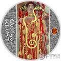 MEDICINE Medicina Gustav Klimt Golden Five Moneda Plata 1$ Niue 2018