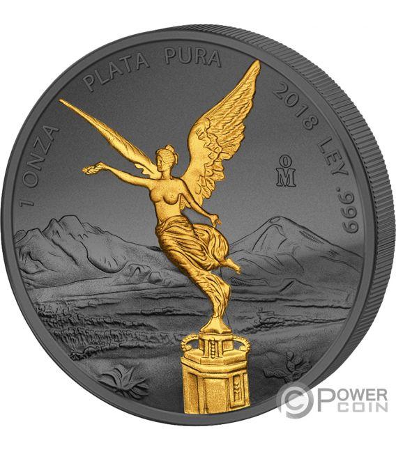 Libertad Liberty Golden Enigma 1 Oz Silver Coin Mexico