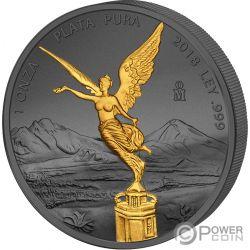 LIBERTAD Liberty Golden Enigma 1 Oz Серебро Монета Мексика 2018