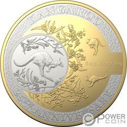 KANGAROO SERIES Canguro 25 Aniversario 5 Oz Moneda Plata 10$ Australia 2018