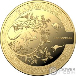 KANGAROO SERIES 25th Anniversary 1 Oz Gold Coin 100$ Australia 2018