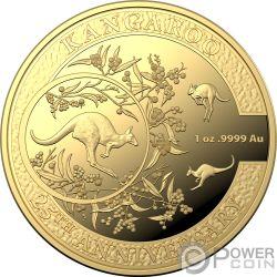 KANGAROO SERIES Canguro 25 Aniversario 1 Oz Moneda Oro 100$ Australia 2018