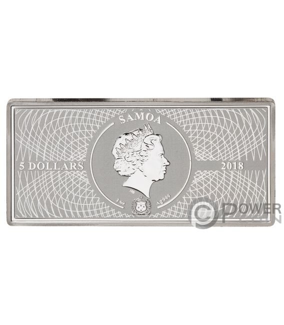 FERMI GAMMA RAY Shades of Space 1 Oz Silver Coin 5$ Samoa 2018