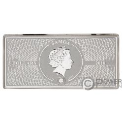 FERMI GAMMA RAY Shades of Space 1 Oz Moneda Plata 5$ Samoa 2018