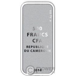 EDEN Adam Eva 2 Silber Münze Set 2 500 Francs Cameroon 2018