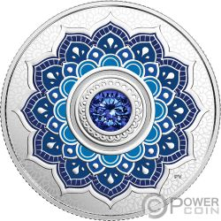 SEPTEMBER Birthstone Swarovski Crystal Silver Coin 5$ Canada 2018