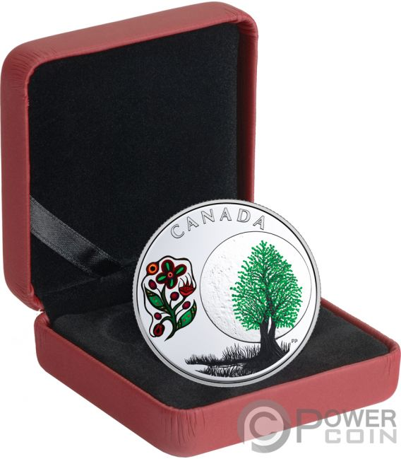 THIMBLEBERRY MOON Teachings From Grandmother Silver Coin 3$ Canada 2018