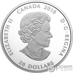 GRIZZLY BEAR Orso Bruno Canadian Mosaics 1 Oz Moneta Argento 20$ Canada 2018