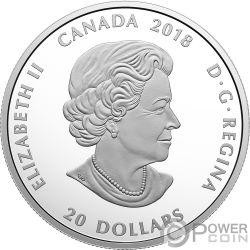 GRIZZLY BEAR Oso Pardo Canadian Mosaics 1 Oz Moneda Plata 20$ Canada 2018