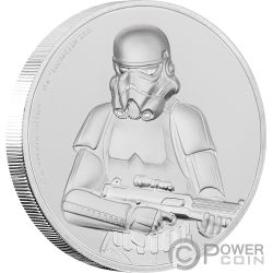 STORMTROOPER Ultra High Relief Star Wars 2 Oz Moneda Plata 5$ Niue 2018