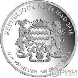 WELSH CORGI Galés Perro Our faithful friends Moneda Plata 500 Francos Chad 2018