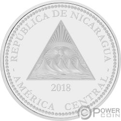 GIANT ANTEATER Hormiguero Gigante Wildlife 1 Oz Moneda Plata 100 Cordobas Nicaragua 2018