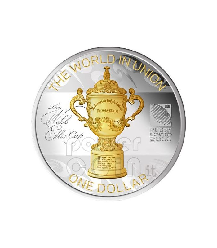 Webb Ellis Cup Rugby World Cup Silver Coin 1 New Zealand