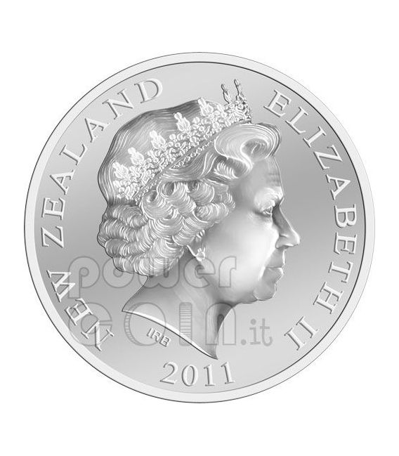 COPPA WEBB ELLIS Rugby World Cup Moneta Argento 1$ Nuova Zelanda 2011