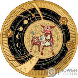 TAURUS Zodiac Signs Серебро Монета 500 Франков Камерун 2018