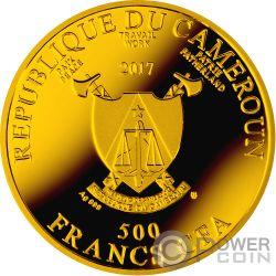 MICHELANGELO Doni Ave Maria Серебро Монета 500 Франков Камерун 2017