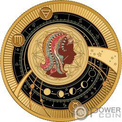 VIRGO Zodiac Signs Moneta Plata 500 Francos Cameroon 2018