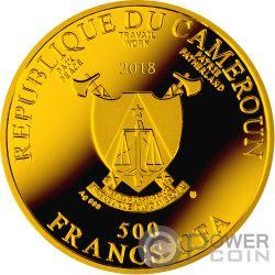 DOMENICO BECCAFUMI Ave Maria Silber Münze 500 Franken Cameroon 2018