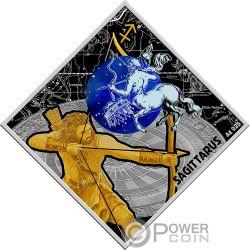 SAGITTARIUS Zodiac Signs Серебро Монета 100 Денар Македония 2018