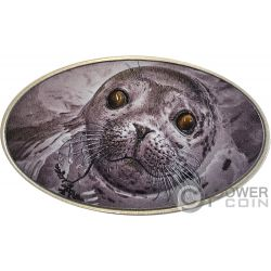 PINNIPED Foca Pinnipede Animal Skin 1 Oz Moneta Plata 2$ Niue 2018