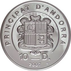HELIBOARDING Extreme Sports Silver Coin 10D Andorra 2007