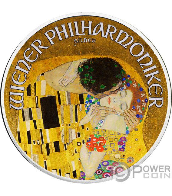 KISS 100th Anniversary Gustav Klimt 1 Oz Silver Coin 1.5€ Austria 2018