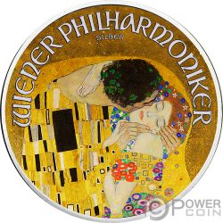KISS 100th Anniversary Gustav Klimt 1 Oz Серебро Монета 1.5€ Австрия 2018