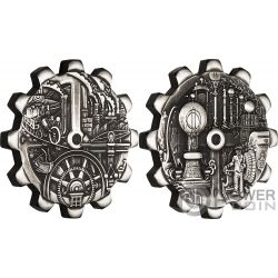EVOLUTION OF INDUSTRY Industrielle Set 2x1 Oz Silber Münze 1$ Tuvalu 2018