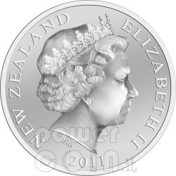 ICONS KIWI FERN Серебро Proof Монета 1$ Новая Зеландия  2011